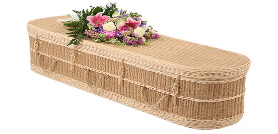 The seagrass eco-friendly coffin